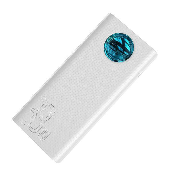 Baseus Amblight Quick Charge large power digital display power bank 33W PD3 0 QC3 0 30000mAh White 17678 5