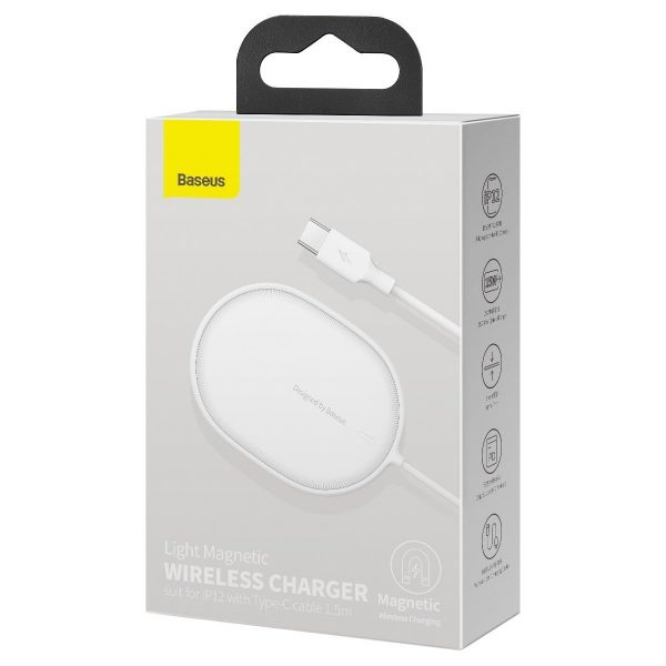 Baseus Light wireless induction charger for iPhone 12 15W white 19701 10