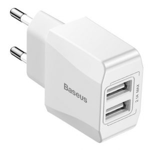 Baseus Mini Charger 2x USB White 15539 1