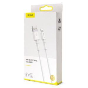 Baseus Mini USB Lightning Cable 2 4A 1m White 16348 8