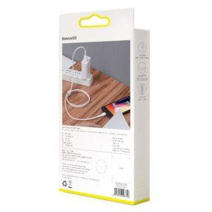 Baseus Mini USB Lightning Cable 2 4A 1m White 16348 9