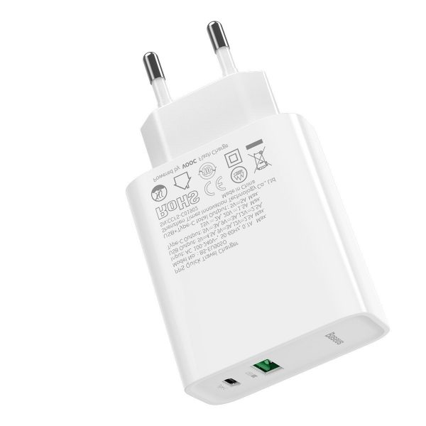 Baseus Speed PPS Quick Charger C A 30W EU VOOC Edition With 1m 5A U C Flash Cable White 18448 7