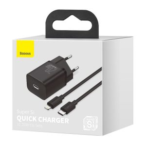 Baseus Super Si Quick Charger 1C 20W with USB C cable for Lightning 1m black 19718 10