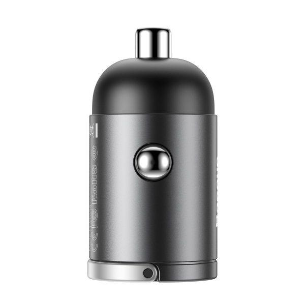 Baseus Tiny Star Mini Quick Charge Car Charger USB Port 30W Grey 16850 3