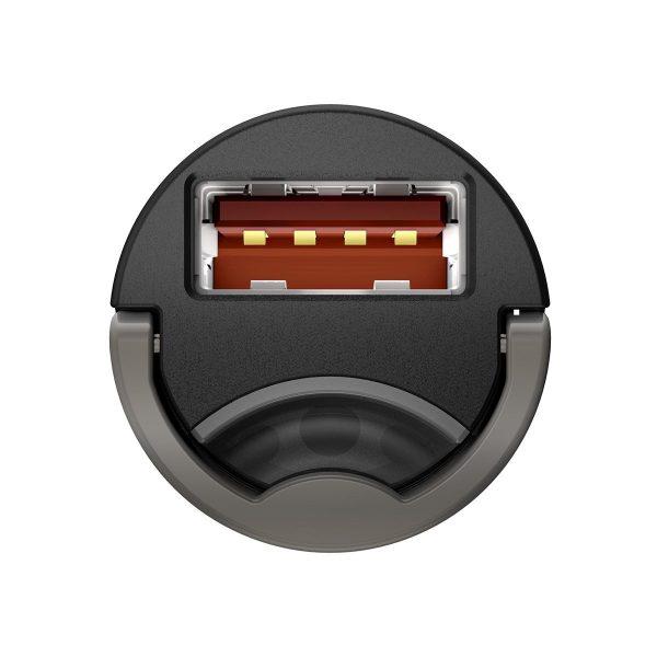 Baseus Tiny Star Mini Quick Charge Car Charger USB Port 30W Grey 16850 4