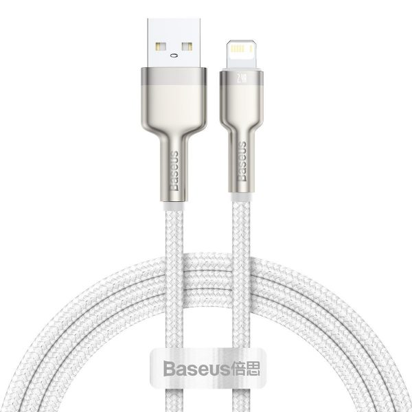 USB cable for Lightning Baseus Cafule 2 4A 1m white 19713 1