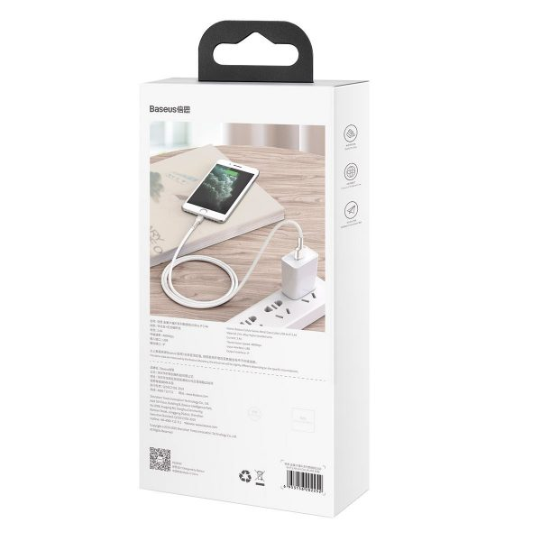 USB cable for Lightning Baseus Cafule 2 4A 1m white 19713 11