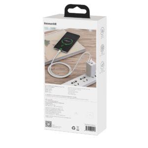 USB cable for USB C Baseus Cafule 40W 1m white 19709 7