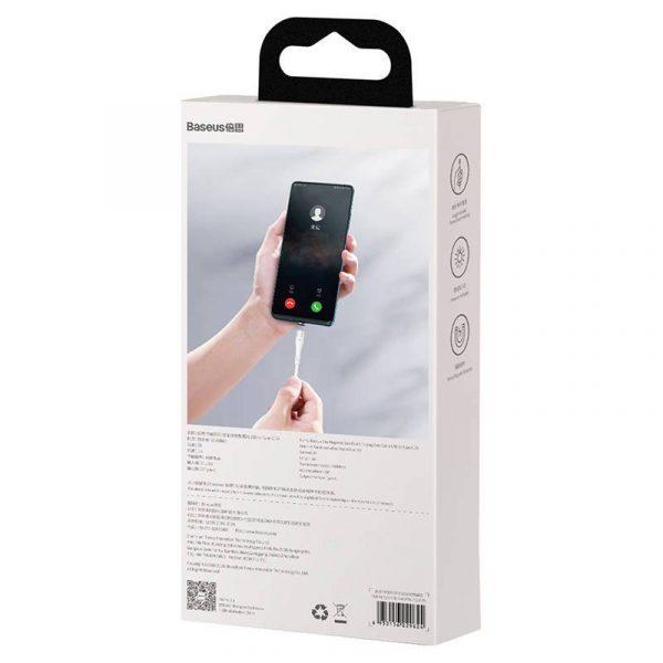 USB magnetic cable USB C Baseus Zinc 3A 1m white 19522 11